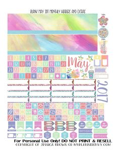 Free Printable Blank May 2017 Monthly Headers and Extras from myplannerenvy.com