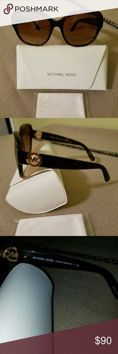 """NWOT Michael Kor's sunglasses """"Tabitha lll"""" NWOT Michael Kor's sunglasses """"Tabitha lll """" Dark Tortoise.  They are chic square sunglasses pretty and practical, they're the perfect accessory for everyday wear. Michael Kors Accessories Sunglasses"""