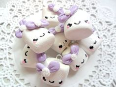Kawaii Polymer Clay Charms Kawaii Marshmallow von HappyKawaiiSupply, $7.50