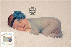 Blue Baby Boy or Baby Girl Stretch Newborn Baby Wrap Photo Prop