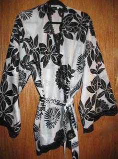 Silk Cotton Short Robe