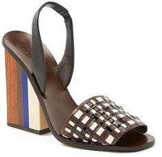 Tory Burch 'Emori' Sandal, Fashion, Shoe Design, Women's Fashion, Runway, Designer, Color Blocking, h-a-l-e.com