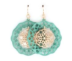 Skylar Circlet Earrings in Teal on Emma Stine Limited