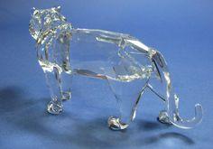 Retired Swarovski Crystal Marvelous Tiger by M Stamey 1998 New in Box   eBay