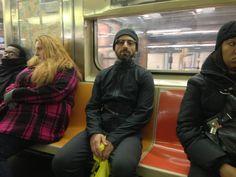 Sergey Brin Dons Google Glass, Dresses Like An International Jewel Thief For NYC Subway Ride
