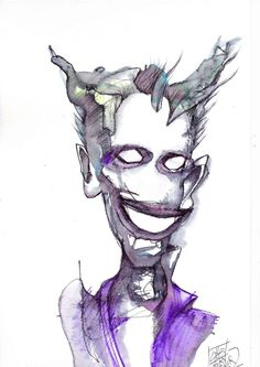Abstract WaterColour   Crooky Joker2  By CrookNose