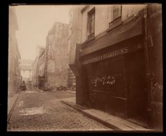 Paris - Un Coin de la rue St. Eugene Atget, Paris Vintage, Old Paris, House Photography, Landscape Photography, Saint Médard, Eastman House, Berenice Abbott, French Photographers