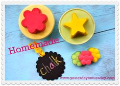 How to Make Chalk at home... it's easy and FUN. Cool project for kids! Make all kinds of shapes and colors!