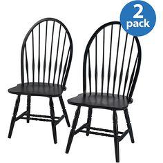 Big Windsor Chair, Black, Set Of 2. $165 ($63 Each)