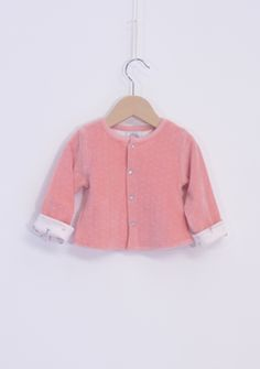 WINTER COLLECTION / La Queue Du Chat / Baby cardigan / ♥ Pink baby's jacket for chilly day ♥ www.littlefrenchy.com.au #french #laqueueduchat #new #winter #littlefrenchy