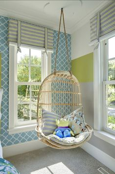<Girl's Bedroom> Girl's Bedroom Girl's Bedroom  Claire would love a swing like this in her room