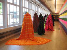 Fransje Killaars, Installation: Figures, Colors First, 2007, Massachusetts Museum of Contemporary Art, North Adams, MA (interior view)