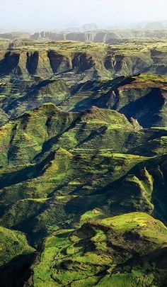 At the Simien Mountains in Ethiopia.