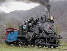 "Class B Climax No. 3 (S/N 1059) in operation on the Durbin & Greenbriar Railroad's ""Durbin Rocket"" in West Virginia."