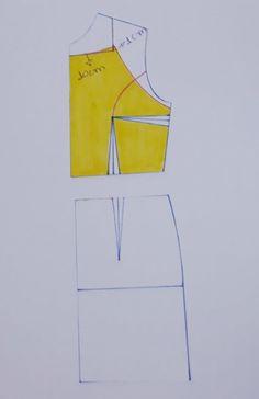 VESTIDO DE AMARRAR ATRÁS – SIHBLOG Corset Sewing Pattern, Bodice Pattern, Dress Patterns, Sewing Patterns, Crochet Patterns, Pattern Making Books, Free Design, Hand Embroidery, Athletic Tank Tops