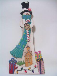 Muñeco de nieve, corte madera láser.