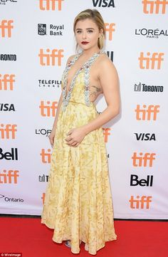Simply stunning! Chloe Grace Moretz was a vision of glamour at the premiere of her new film Brain On Fire at the Toronto International Film Festival on Friday