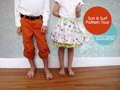 I love how she gave the underskirt a really full ruffle.             mama says sew: Sun and Surf Pattern Tour