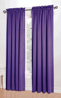 Kylee is a bold solid room darkening drapery; enhance the appearance of your kid's window decor with these easy to hang curtains. #KidsCurtains