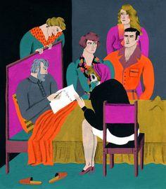 Fanny Blanc. Reinterpretación de un Ex-Libris de Richard Oliete. 2013