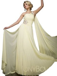 Tony Bowls TBE11044, Back Drape Goddess Gown « Dress Adds Everyday
