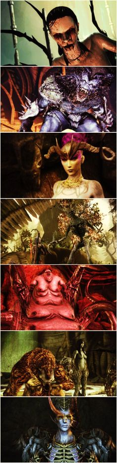 Creatures of Dragon Age: Origins. The Architect is still my favorite and I wish that they would put him in another game if you let him live