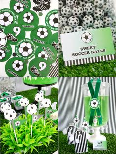 Football or Soccer Birthday Printable Party Supplies