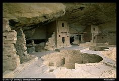 Kiva in Balcony House. Mesa Verde National Park (color)