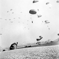 Paratroopers of the 17th Airborne Division land on German ground at the start of Operation Varsity. #WW2