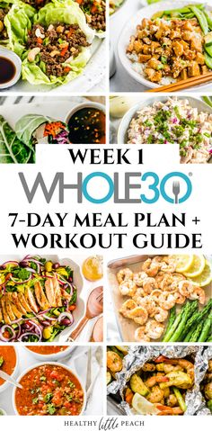Needing inspiration for your I am here to bring you a full FREE Meal Plan and Workout Guide. Getting healthy has never been easier. Needing inspiration for your I am here to bring you a full FREE Meal Plan and Workout Guide. Getting healthy has never … Detox Meal Plan, Diet Meal Plans To Lose Weight, 7 Day Meal Plan, 30 Day Whole 30 Meal Plan, Whole 30 Meals, Whole Foods Meal Plan, Detox Meals, Whole Food Diet, Paleo Meal Prep