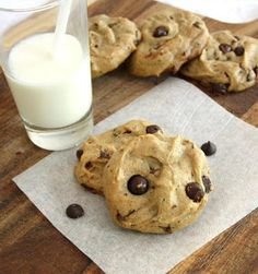 Inspired Edibles: Flourless Peanut Butter and Banana Chocolate Chip Cookies (Gluten Free, Dairy Free)