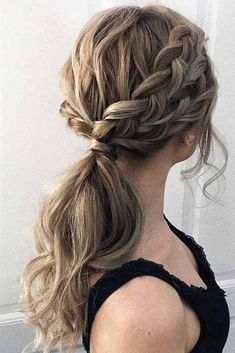 53 Best Ponytail Hairstyles Low and High Ponytail to Inspire Hairstyles Hair Hairstyles - Frisur Abschlussball - Wedding Hairstyles Cute Ponytail Hairstyles, Dance Hairstyles, Easy Hairstyles For Long Hair, Hairstyle Ideas, Ponytail Updo, Ponytail Ideas, Bangs Hairstyle, Everyday Hairstyles, Hair Ideas