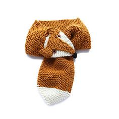 Fox animal scarf for children