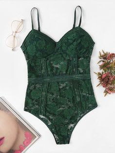 To find out about the Floral Lace Teddy Bodysuit at SHEIN, part of our latest Sexy Lingerie ready to shop online today! Sexy Lingerie, Teddies Lingerie, Bodysuit Lingerie, Lingerie Party, Vintage Lingerie, Lingerie Models, Teddy Bodysuit, Lace Babydoll, Sensual
