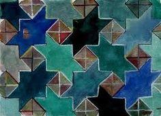 Alhambra tiles Más Tile Art, Mosaic Tiles, Mosaic Floors, Tile Patterns, Pattern Art, Geometric Art, Geometric Patterns, Moroccan Art, Islamic Art Pattern
