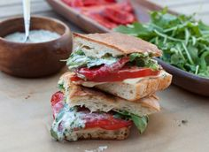 Roasted red pepper panini with cilantro-lime mayo!
