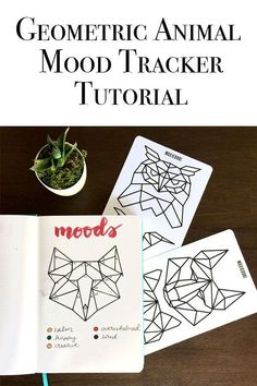 Do you love those Geometric Animal Trackers? Check out this tutorial on how to c… Do you love those Geometric Animal Trackers? Check out this tutorial on how to create one in your bullet. Bullet Journal Gifts, Bullet Journal And Diary, April Bullet Journal, Bullet Journal How To Start A, Bullet Journal Spread, Journal 3, Geometric Animal, Geometric Art, Mood Tracker
