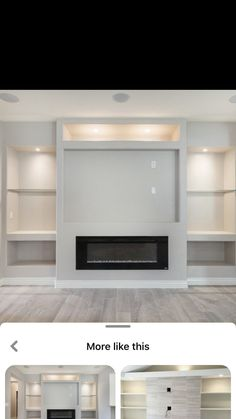 Wall Units With Fireplace, Living Room Decor Fireplace, Basement Living Rooms, Home Fireplace, Living Room With Fireplace, Fireplace Design, Home Living Room, Built In Shelves Living Room, Feature Wall Living Room