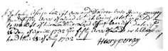 """Henry Peregoy the senior, son of Joseph and Sarah Mumford Peregoy, was born in Baltimore County c. 1690/95. He married Amy Green, possible daughter of Robert Green, in 1716. The marriage banns for this couple were published in the register of St. Paul's Parish February 16, 1716. Marriage banns were a requirement by which engaged couples had to announce their intention to marry in their """"home"""" parish. This announcement allowed anyone in the congregation to voice a legal or religious protest."""