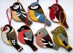 pájaros de fieltro: