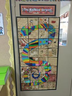 The Rainbow Serpent - Aboriginal Dreamtime stories Grade 3 Art lesson