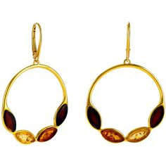 Be-Jewelled Marquise Amber Round Drop Earrings ($120) ❤ liked on Polyvore featuring jewelry, earrings, layered jewelry, french hook earrings, amber drop earrings, amber jewelry and drop hoop earrings