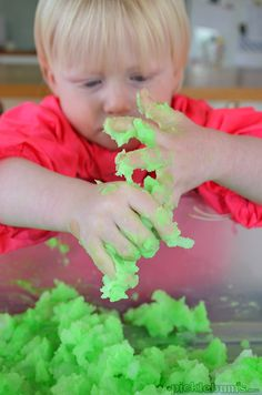 Sludge Play Recipe - super sensory play with cooked cornstarch and water!