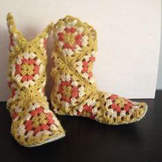 Grandmom square boots