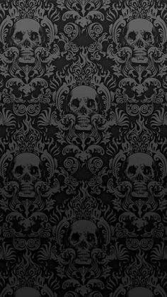 Skulls Wallpaper  wallpaper by Black0rWhite - efec - Free on ZEDGE™