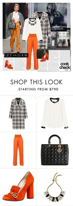 """""""Coat Check"""" by cherry1987 on Polyvore featuring Carven, Ralph Lauren Black Label, Balmain, Christian Dior, Gucci, Lanvin, coat and coatcheck"""