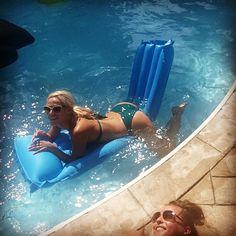 #swimming with my life long bestie @kristinecamane85 @beachbunnyswimwear #poolparty