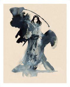 Aska, print on velvet fine art paper, by Amelie Hegardt