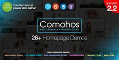 Comohos - Multipurpose Responsive Premium OpenCart 2.2 Theme with 28+ Unique Designs . Comohos has features such as High Resolution: Yes, Compatible Browsers: IE9, IE10, IE11, Firefox, Safari, Chrome, Compatible With: Bootstrap 3.x, Software Version: OpenCart 2.2.0.x, OpenCart 2.1.x, OpenCart 2.0.x, Columns: 2