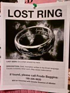 please help me find my ring!